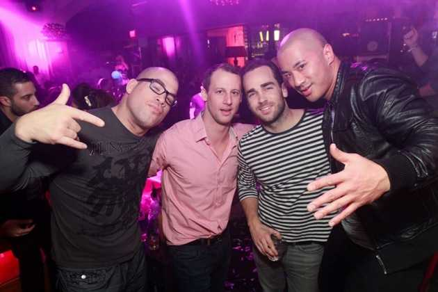 Tito Ortiz parties with friends at Hyde Bellagio, 1.1.13