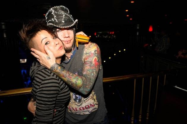 2.15.13 DJ Ashba of Guns N' Roses and his sister Kari Kaisner at Body English in Hard Rock Hotel & Casino, credit Carlos Larios