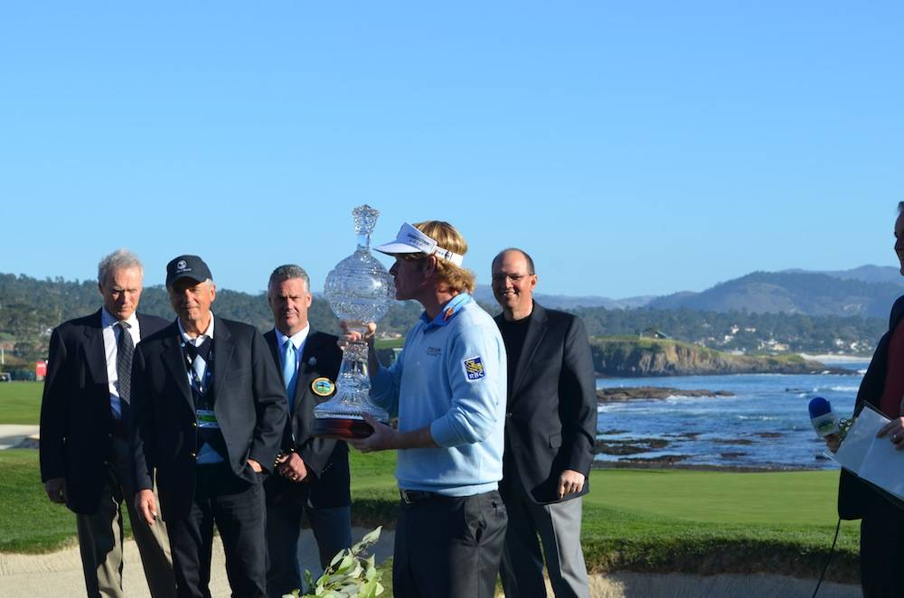 2013 Winner Brandt Snedeker and the trophy