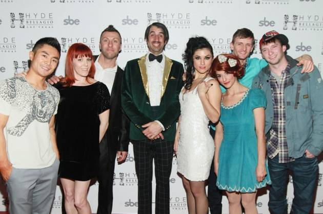 ABSINTHE Cast on Red Carpet at Hyde Bellagio, Las Vegas, 1.29.13