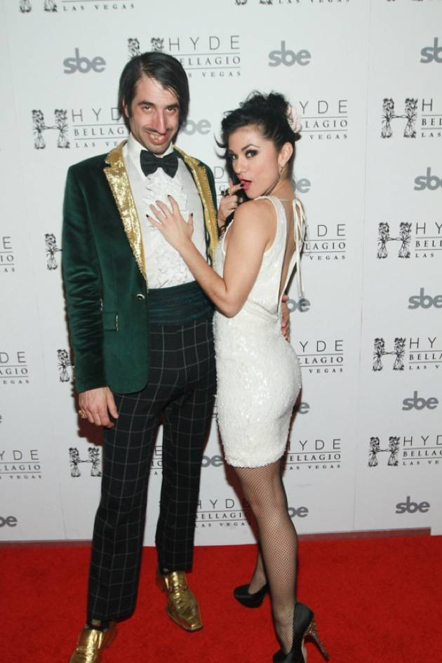 ABSINTHE's The Gazillionaire and Melody Sweets on Red Carpet at Hyde Bellagio, Las Vegas, 1.29.13