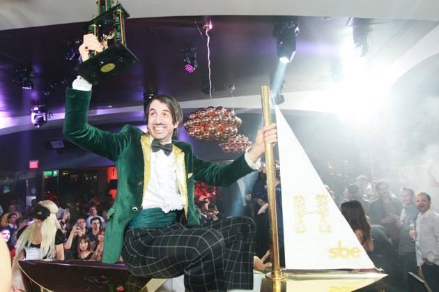 ABSINTHE's The Gazillionaire on Hyde Bellagio's Signature Brass Boat, Las Vegas, 1.29.13