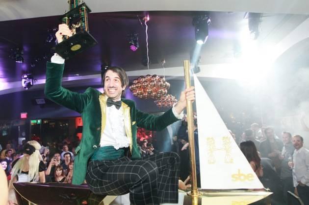 ABSINTHE's The Gazillionaire on Hyde Bellagio's Signature Brass Boat, Las Vegas, 1.29.13