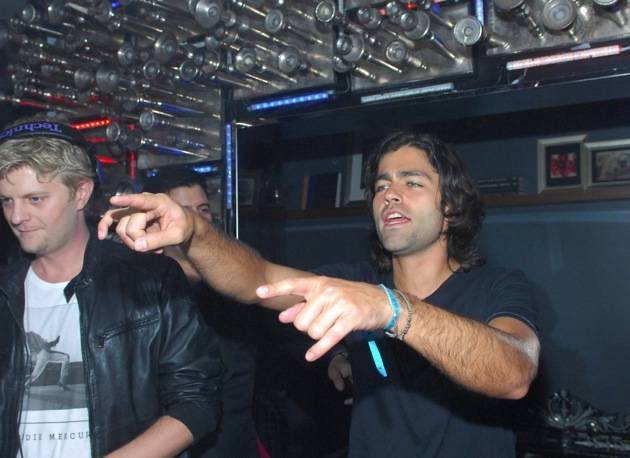 Adrian Grenier in DJ booth at Hyde Bellagio, Las Vegas 2.15.13