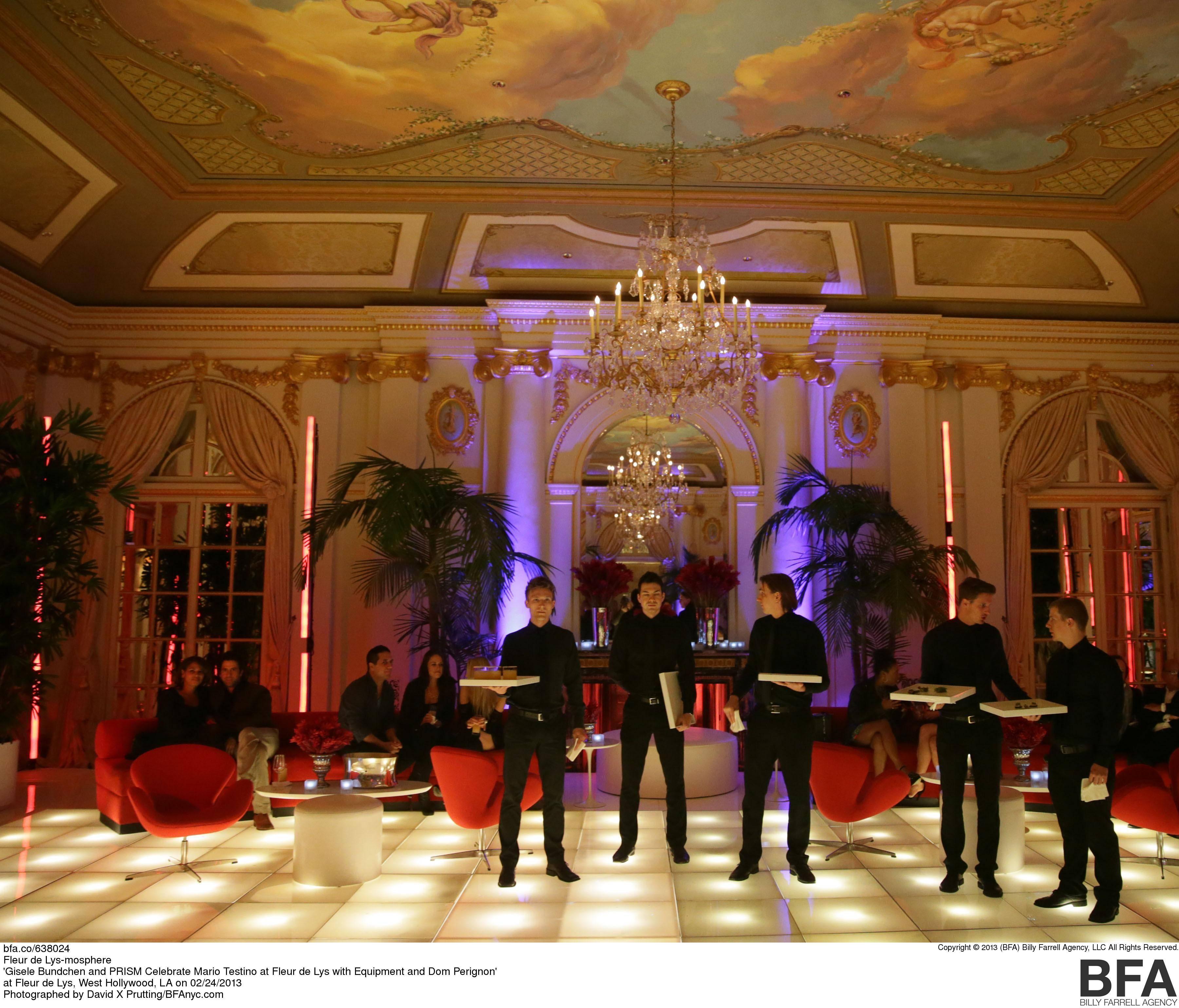 Gisele Bundchen and PRISM Celebrate Mario Testino at Fleur de Lys with Equipment and Dom Perignon