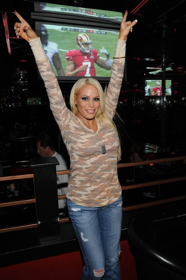 Bobbi Billard cheering