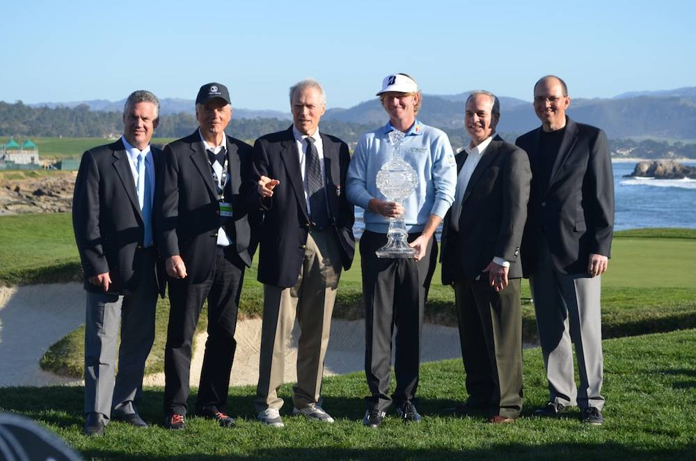 Monterey Peninsula Foundation's Steve John, Peter Ueberroth, Clint Eastwood, William Perocchi with Brandt Snedeker.