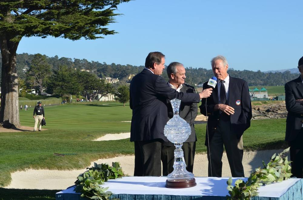 Monterey Peninsula Foundation Chairman Clint Eastwood and CEO Steve John