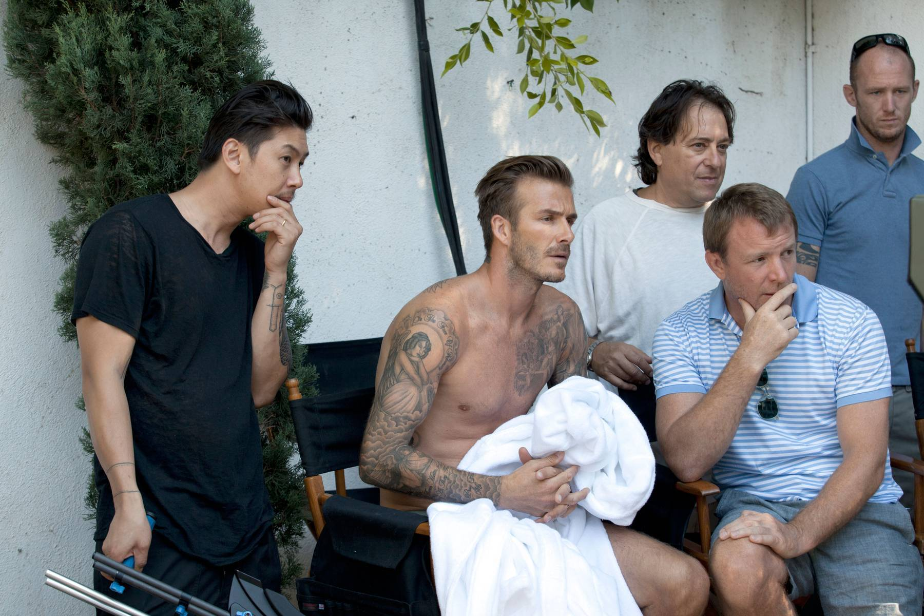 Watch David Beckham Shirtless in Beverly Hills for New Ad Campaign ...