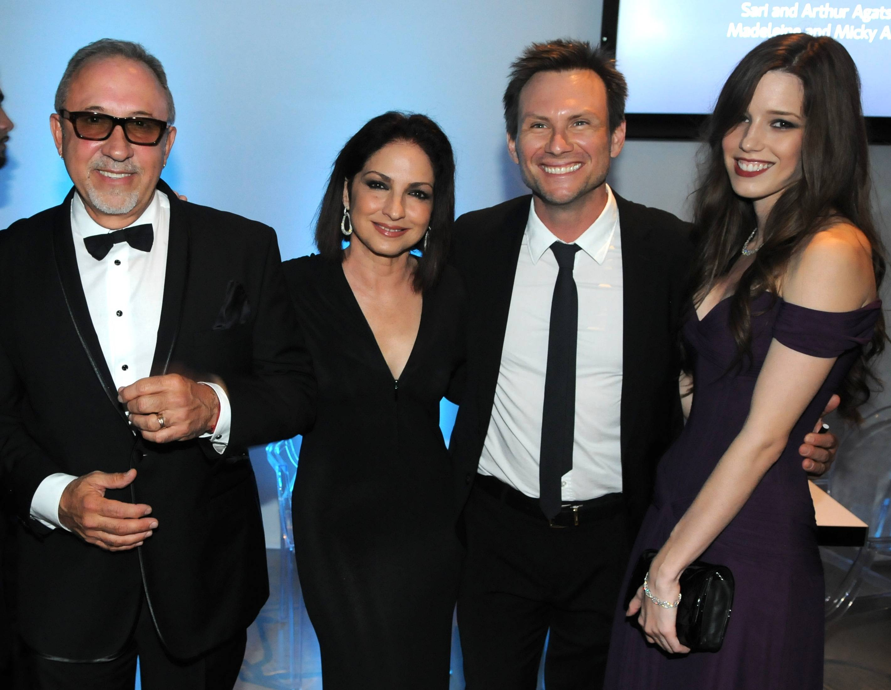 Emilio Estefan, Gloria Estefan, Christian Slater, Brittany Lopez