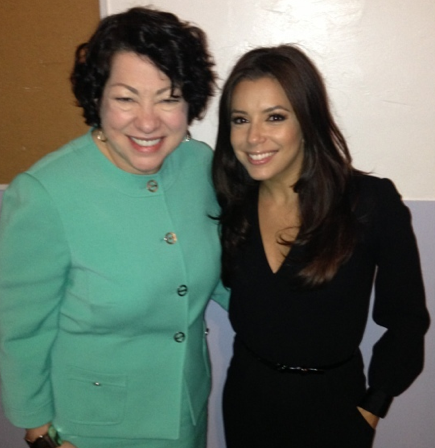 Great event with Justice Sonia Sotomayor in LA! —Eva Longoria