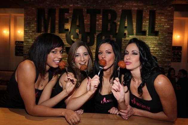 FANTASY enjoying chicken meatballs at Meatball Spot