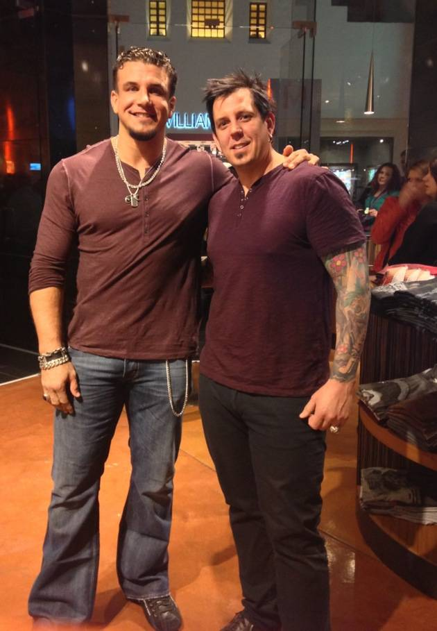 Frank Mir and Sean Dowdell at Club Tattoo's Linkin Park signing at Miracle Mile Shops Feb. 16