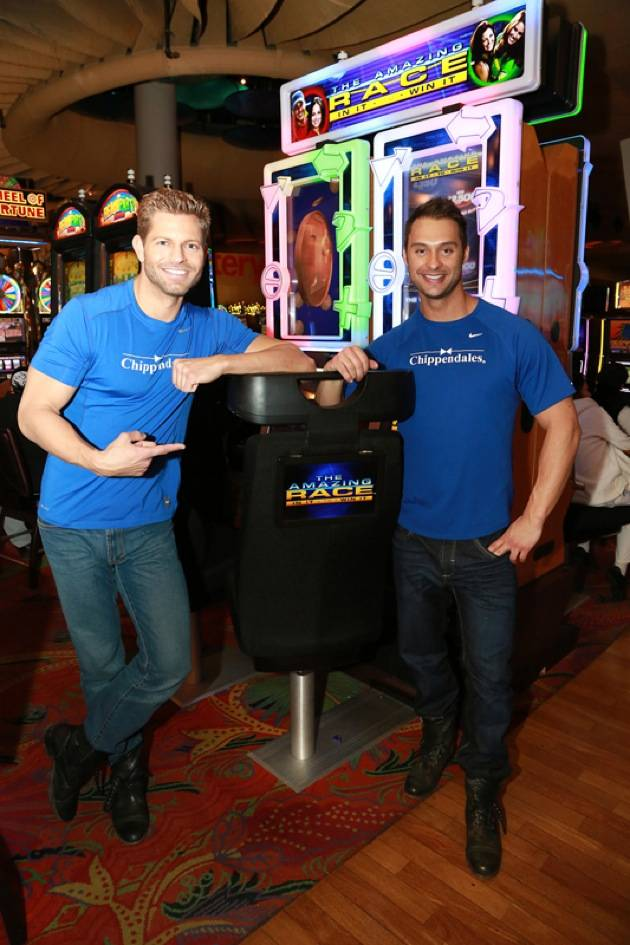 Jaymes and James with Amazing Race™ In It to Win It Video Slots