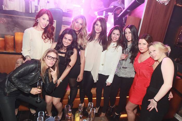 Leona Lewis and friends at Hyde Bellagio, Las Vegas, 2.23.13