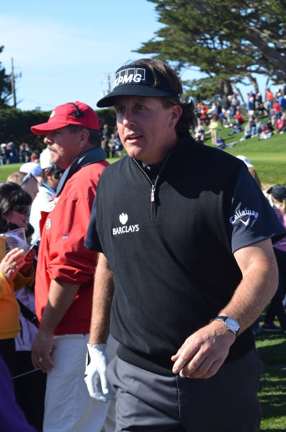 Phil Mickelson close-up