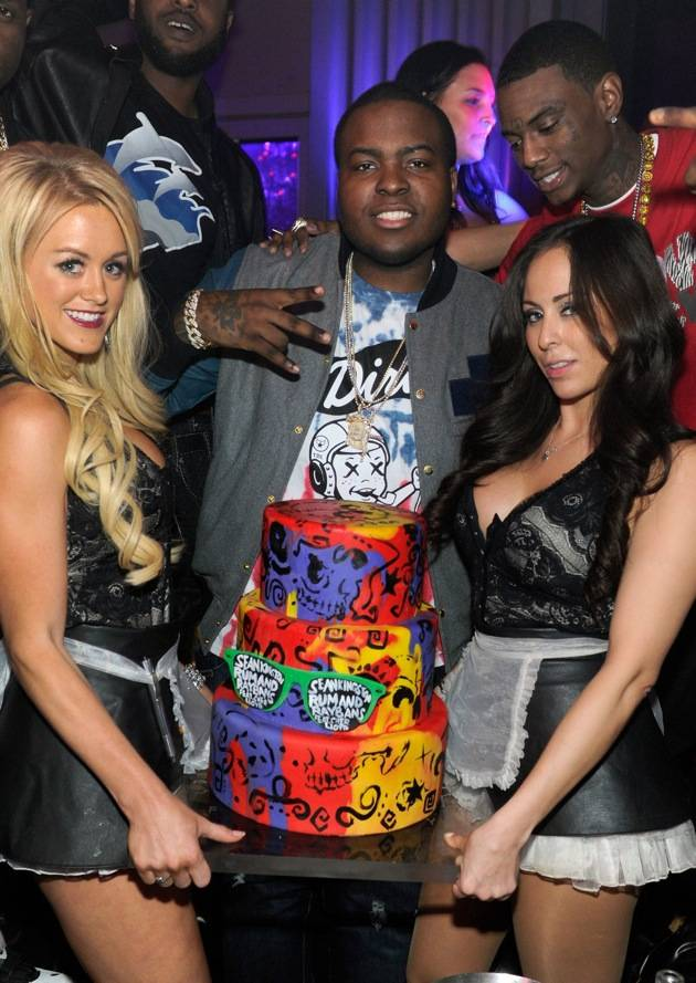 Sean Kingston Celebrates His Birthday At Chateau Nightclub at Paris Hotel and Casino