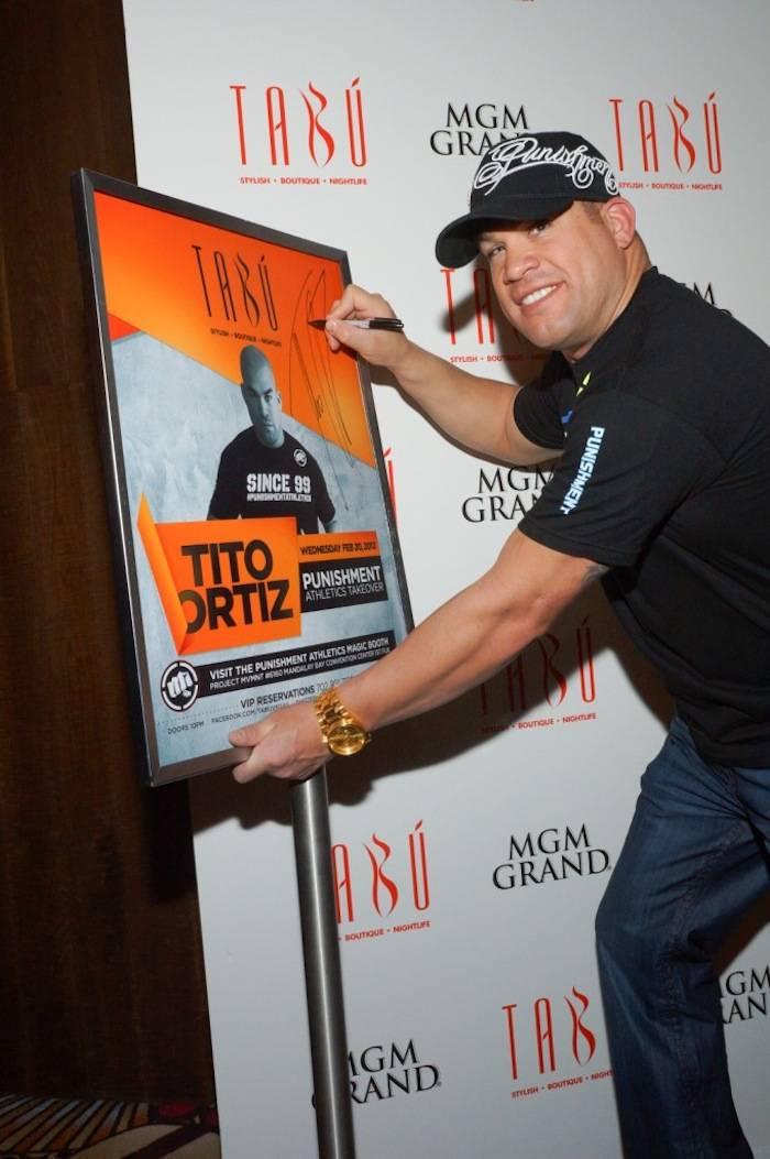 Tabú - Tito Ortiz with Poster - 2.20.13