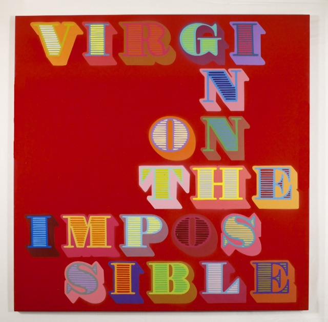 Virgin On The Impossible, artwork by artist Ben Eine