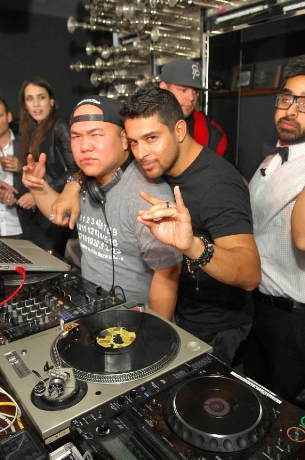 Wilmer Valderrama in DJ booth at Hyde Bellagio, Las Vegas 2.2.13