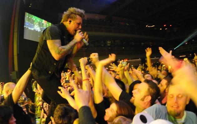 Papa Roach performing at The Joint inside the Hard Rock Hotel in Las Vegas, NV