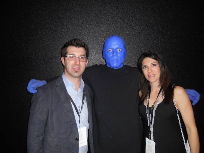 3.15.13 Hypnotist Marc Savard Attends Blue Man Group at Monte Carlo Resort and Casino