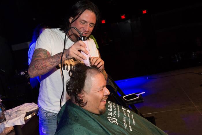 "3.2.13 Isaac ""Big Mex"" Andrade said goodbye to his locks at Rock 'N' Shave at Vinyl Benefitting St. Baldrick's Foundation featuring Sin City Sinners, credit Erik Kabik"