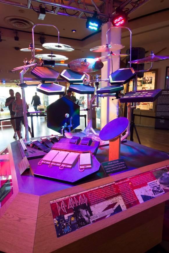 3.21.13 Rick Allen's Drum Kit on Display at Hard Rock Hotel & Casino, credit Erik Kabik (2)