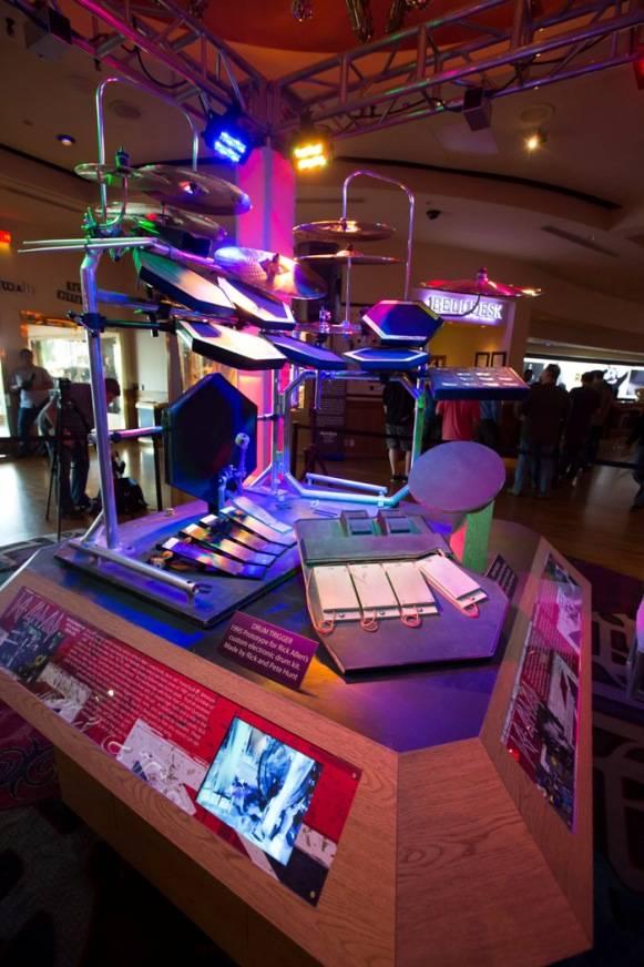 3.21.13 Rick Allen's Drum Kit on Display at Hard Rock Hotel & Casino, credit Erik Kabik