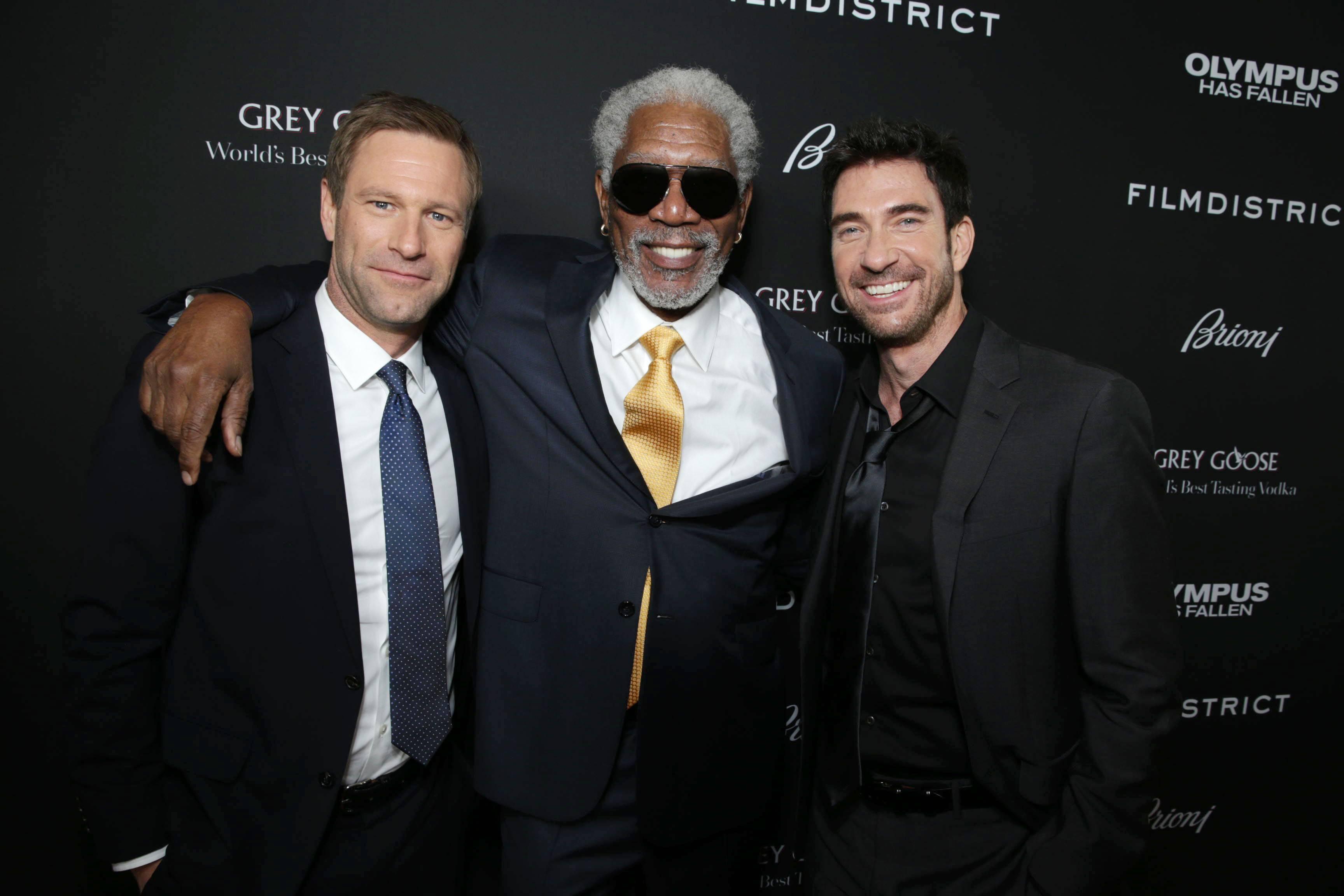 Aaron Eckhart, Morgan Freeman, Dylan McDermott
