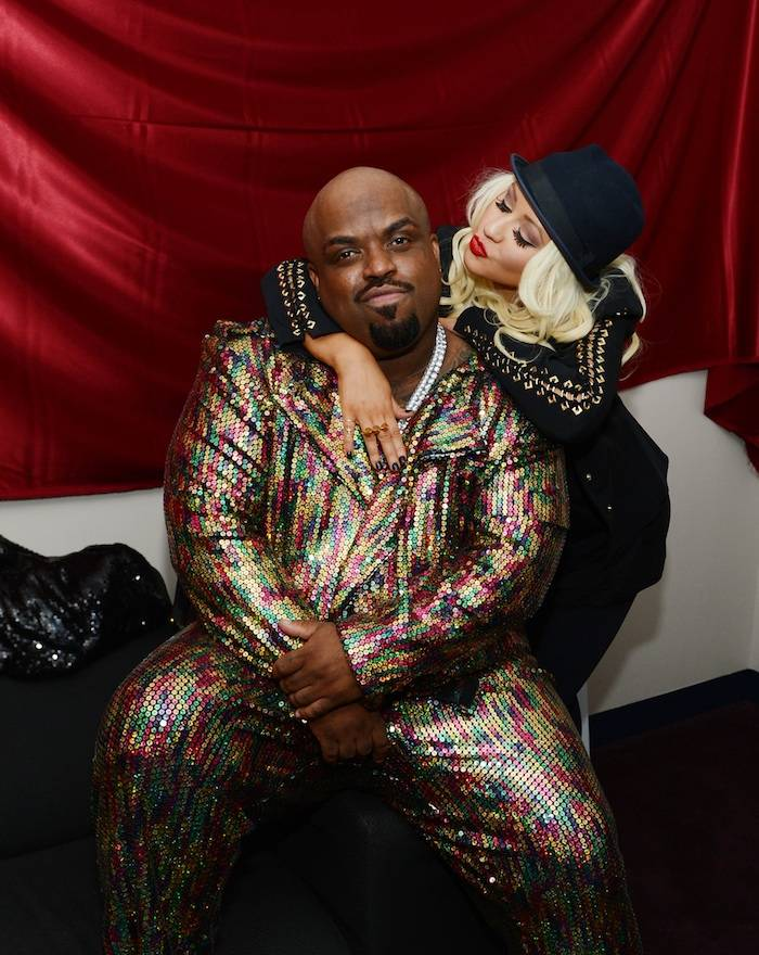 Cee Lo and Christina Aguilera. Photo: Denise Truscello