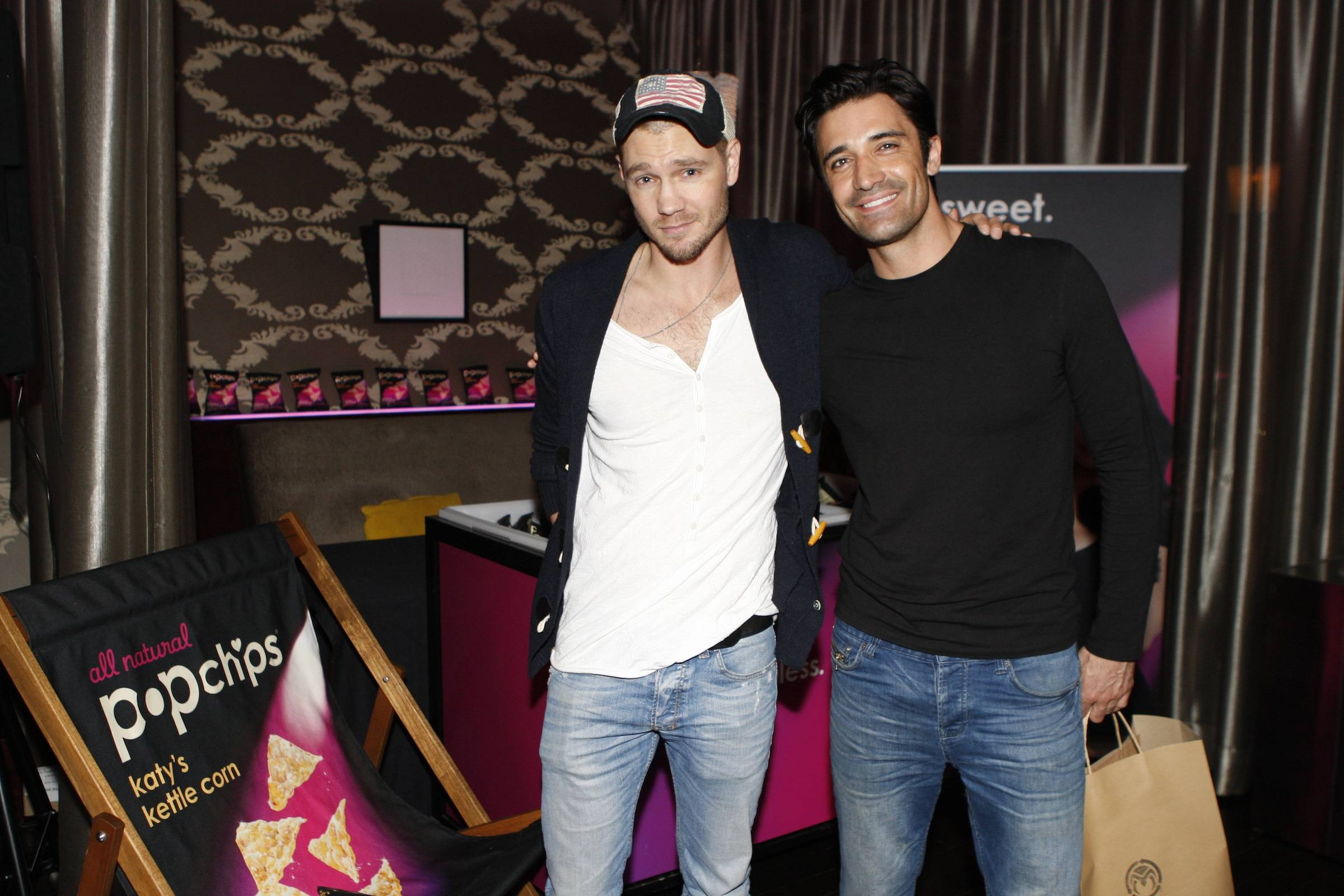 Chad Michael Murrary and Gilles Marini at popchips at Lakers Casino Night presented by OneWest Bank and Pechanga Resort & Casino