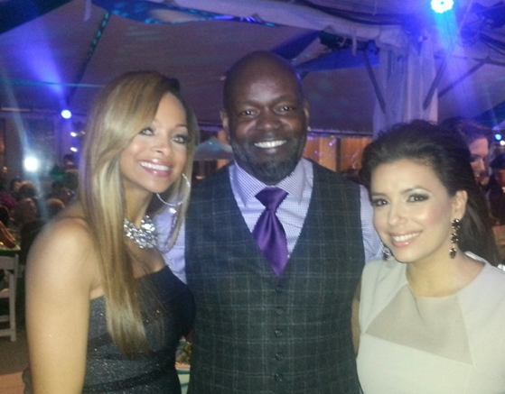 Me and Emmitt Smith at the TX Medal of Arts in Austin along with his beautiful wife!! —Eva Longoria