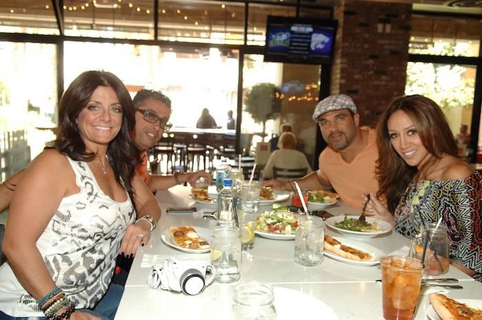 Kathy and Richard Wakile and Joe and Melissa Gorga at Meatball Spot
