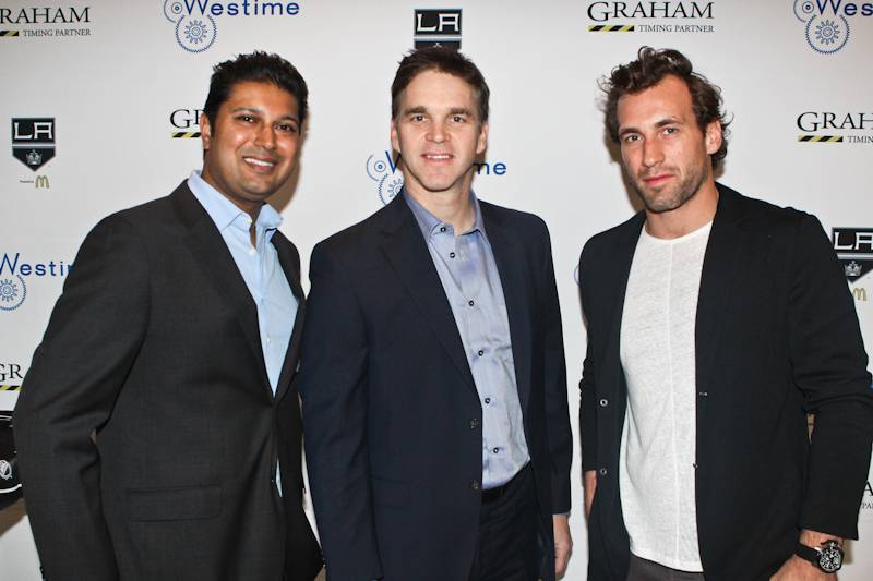 LAKings_Graham_WestimeEvent-Samir Shah, Luc Robitaille, Jarret Stoll