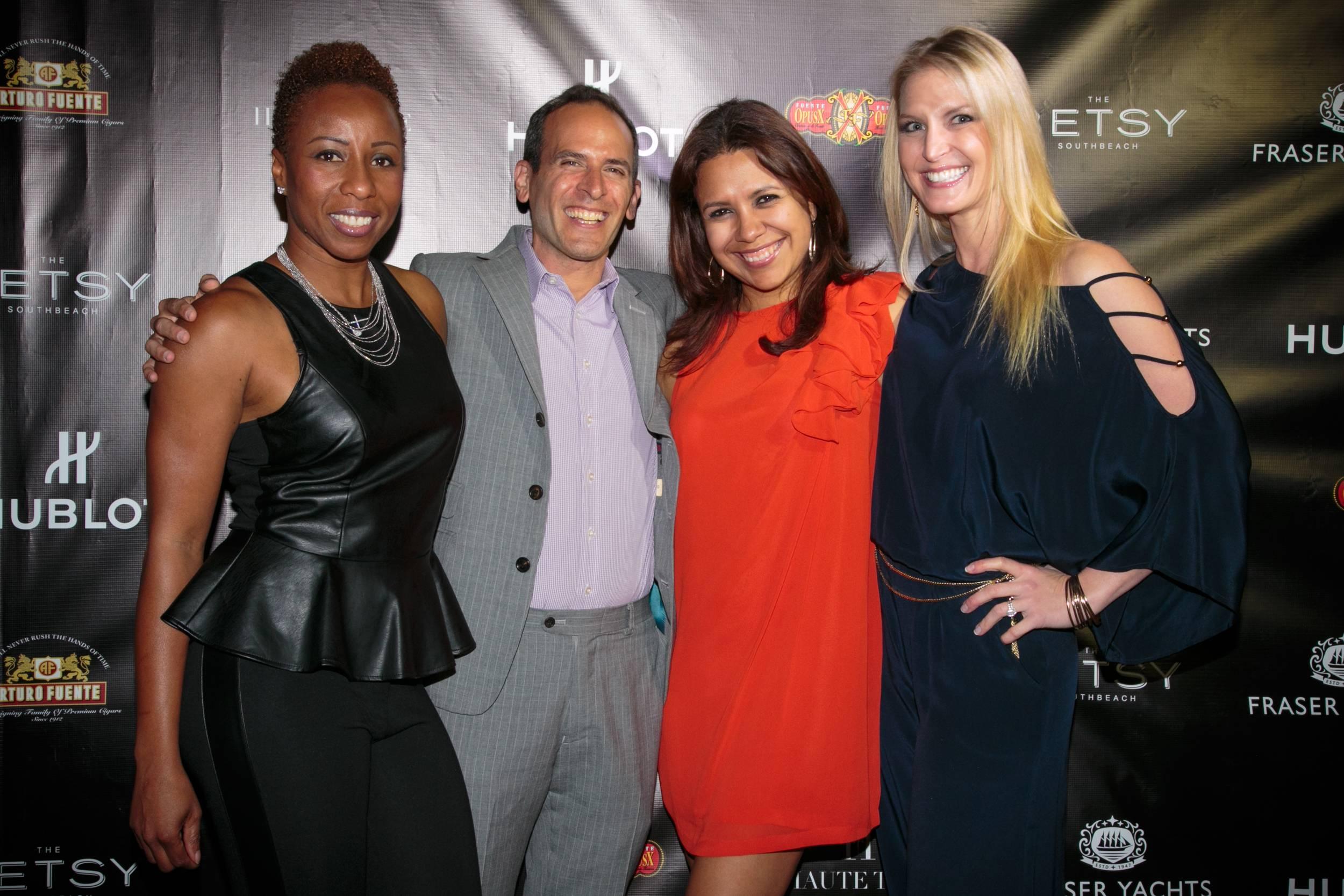 Marva Bradshaw, Oren Agai and Soraya Ramirez w Hublot and Kari Webber w Fraser Yachts