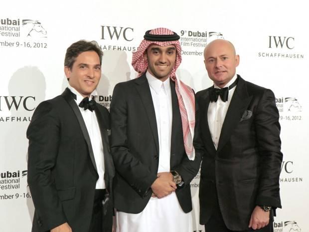 Maxime-Ferte-IWC-Middle-East-Regional-Director-IWC-Saudi-Ambassador-His-Royal-Highness-Prince-Abdulaziz-bin-Turki-AlFaisal-AlSaud-and-Georges-Kern-CEO-IWC.-620×465