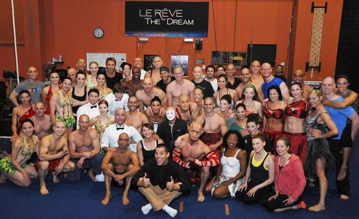 Steve-O with performers from Le Reve - The Dream_Courtesy of Wynn Las Vegas