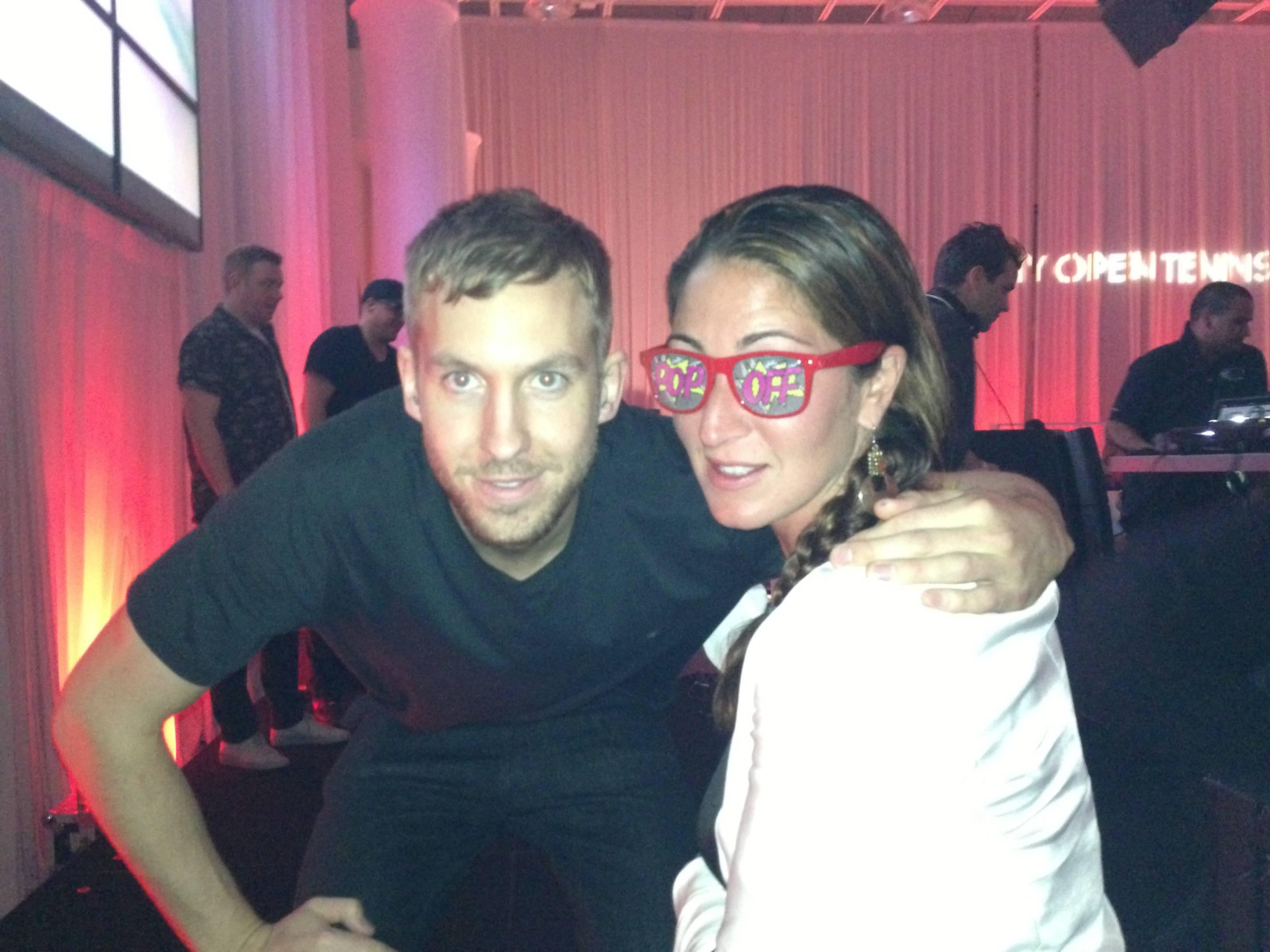 DJ Calvin Harris and Sarah Mirmelli