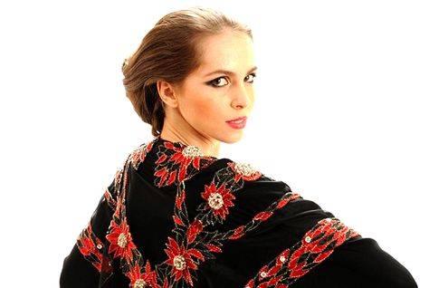 red diamond abaya