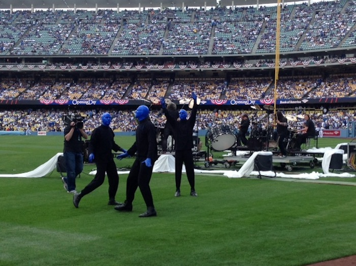 4.1.13 Blue Man Group  at the Los Angeles Dodgers Opening Day Game (2)