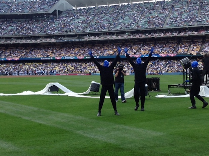 4.1.13 Blue Man Group  at the Los Angeles Dodgers Opening Day Game (3)