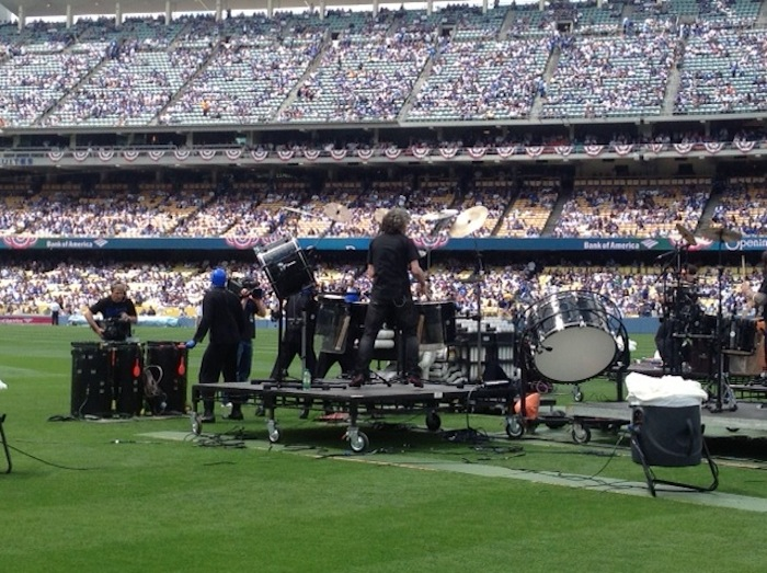 4.1.13 Blue Man Group  at the Los Angeles Dodgers Opening Day Game (4)