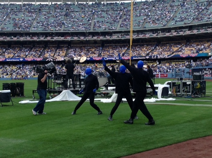 4.1.13 Blue Man Group  at the Los Angeles Dodgers Opening Day Game