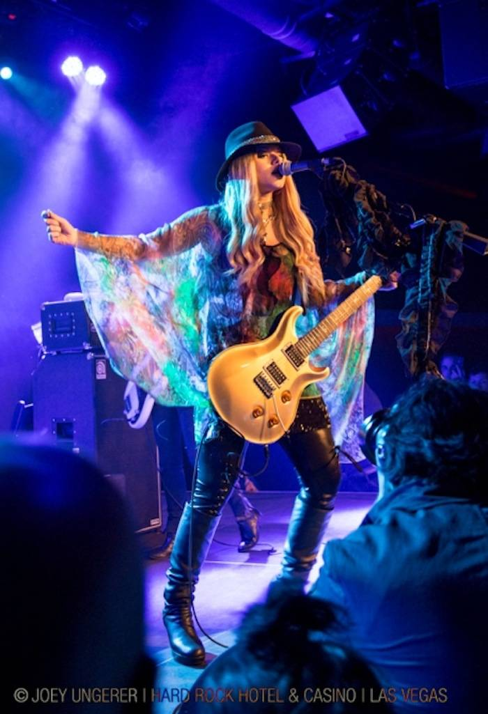 4.25.13 Orianthi at Vinyl in Hard Rock Hotel & Casino, credit Joey Ungerer