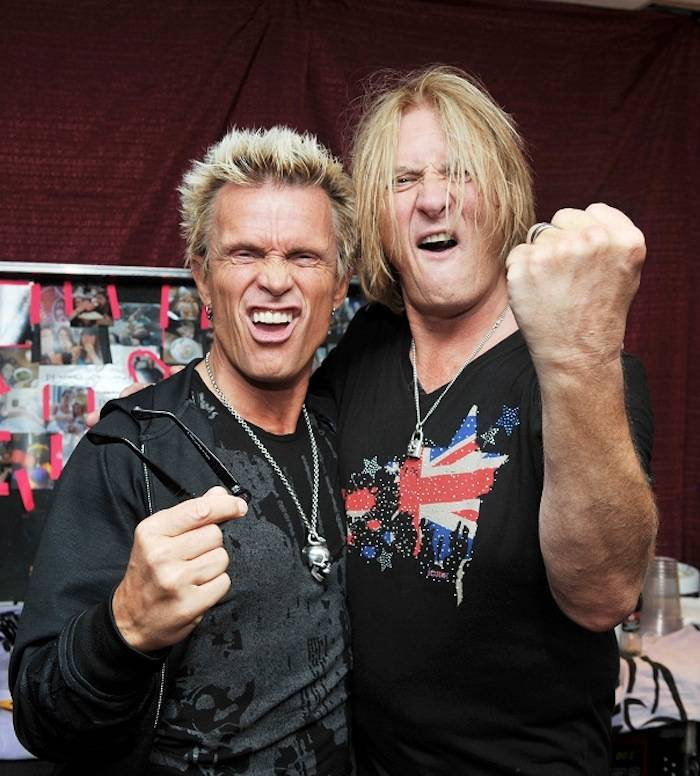 4.3.13 Billy Idol and Joe Elliot Hang Out Following Def Leppard's Resident Show at The Joint in Hard Rock Hotel & Casino, credit Knight Bilham Photography