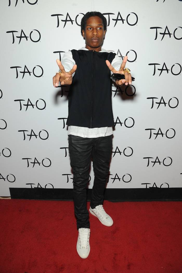 A$AP Rocky at TAO_red carpet