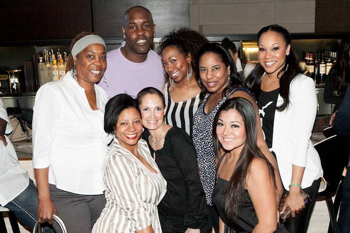 Gary Payton with friends and family at HERAEA at Palms Casino Resort