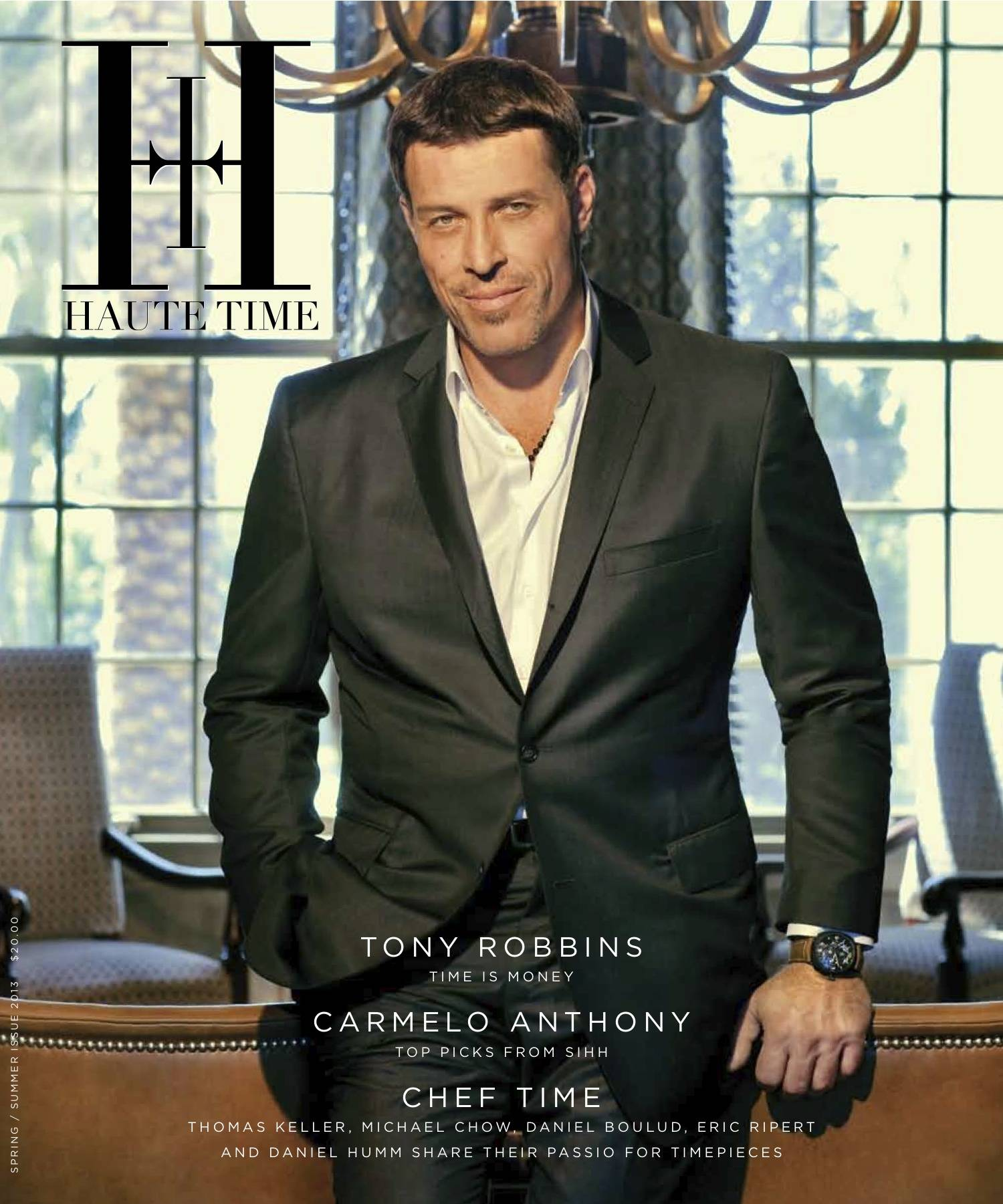 read the first ever issue of haute time featuring tony robbins