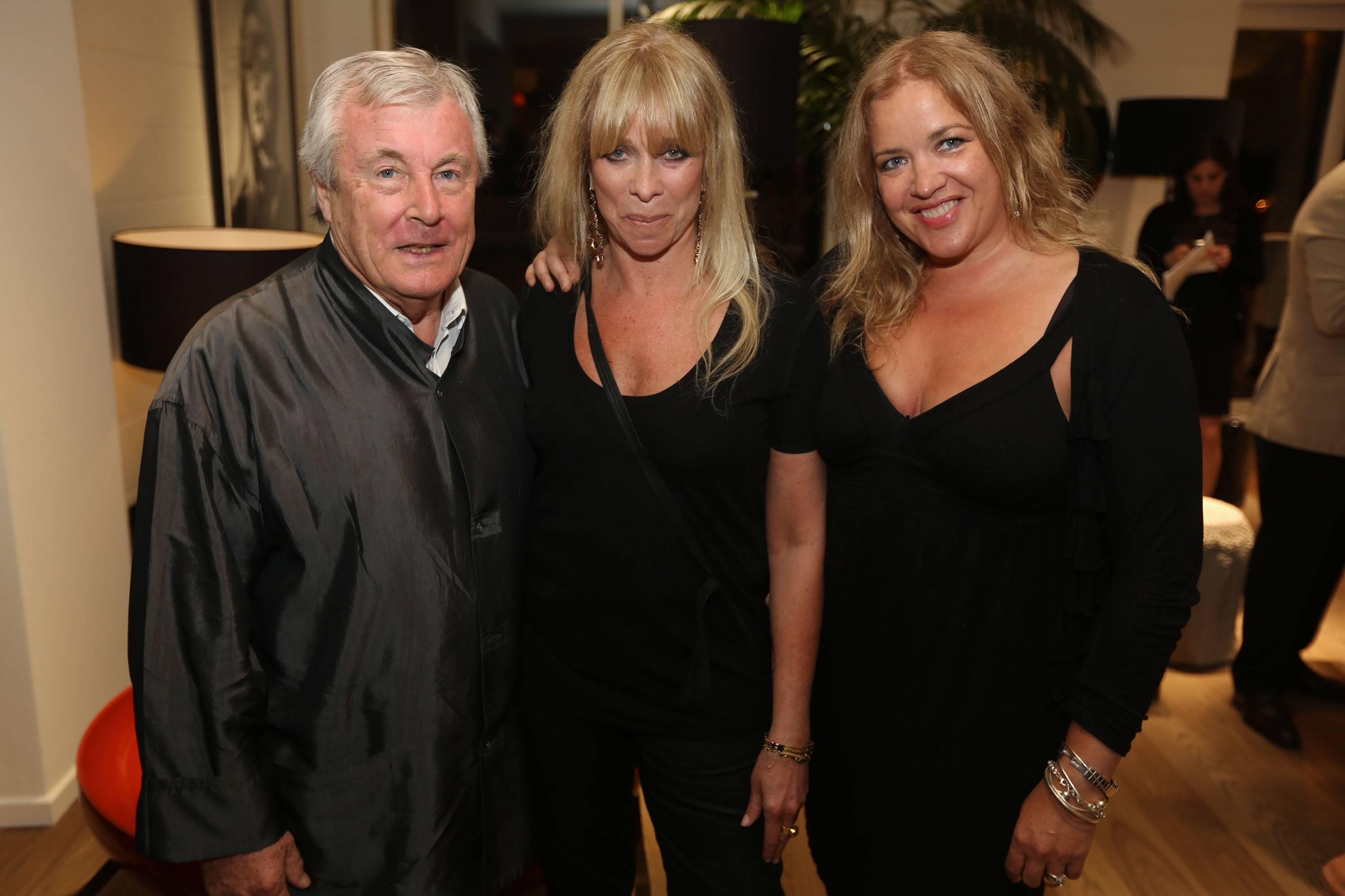 Terry O'Neill, Jo Wood, & Lize Mccarron